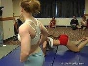 brawny women wrestling