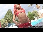 hot latina redhead tranny jerks her.