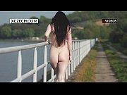 czech girl showing pussy in public - striptease.