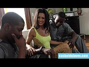 Smokin hot brunette wife lets 2 black men into her house