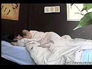 a sleeping beauty using a big dildo to.
