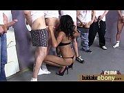 ebony babe sucks group of white.