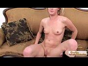 blonde skinny babe fucks her pussy.