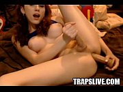 Beautiful Tranny Masturbates And Cums