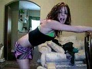 black teen shaking her sexy ass.