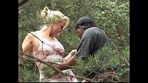 Фото жёны в чулках в лесу
