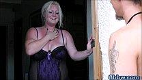 Blonde BBW Sucks and Rides Man Meat - 8bbw.com