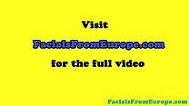 Homemade masturbating eurobabe facialized