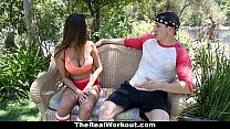 TheRealWorkout - Big Tittied Gymnast Fucks Her ...