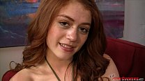 redhead teen alice green sucking a hard cock