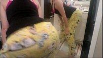 white girl s hakes ass in spongebob pants   MYSLUTBOX com