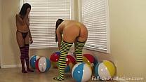 Yesenia Sparkles and Madisin Lee in Yesenia Sparkles Beach Ball Lesson.MILF Teen
