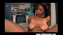 Horny big tits ebony in action