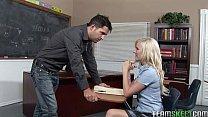 blonde schoolgirl Elaine fucking her prof in th...