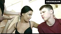 russian wife cuckolds her submissive cuckold hu…