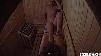 Girls Flirting in the Sauna