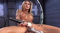 Stunning blonde gets orgasm on fucking machine Thumbnail