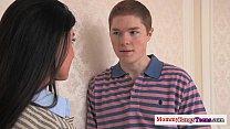 Cougar seduces teen into a taboo threesome