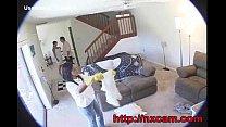 maid fucks husbands wife on baby cam