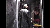 Slim ebony dominatrix pleasures a horny dude in...