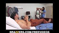 incredibly hot teen nurse deepthroats her patient s cock