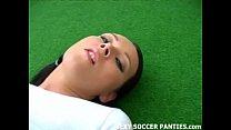 Argentinian football hottie stripping down