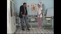 Patient surprised nurse in masturbation with gi...