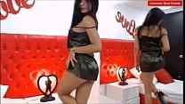 sexy modelo webcam bailando en su sala de chat-...