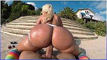 BANGBROS - Big Booty Blondie Fesser Riding Nick Moreno's Fat Cock In Europe