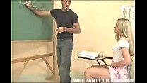 horny schoolgirl gets wet in class