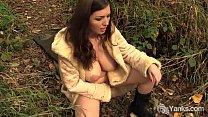 Lovely Amateur Amber Masturbates Outdoors Thumbnail