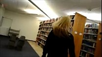 Amateur couple having sex in the library