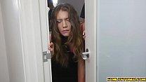 Step bro drills Elena Koshkas teen pussy deep