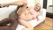 blonde milf sucks and fucks a big black cock in...