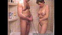 cock tiny grandpa's sucks grandma Busty