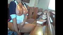 Sexy Woman Masturbate In Churc