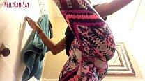 Slim Thick Ebony Booty Jiggles In Yoga pants