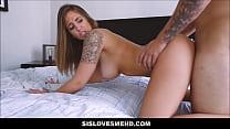 Hot Step Sister Natural Big Tits Fucked