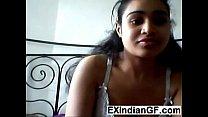 Indian girlfriend fingering her tight ass
