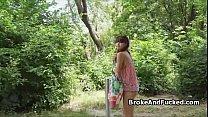 Fucking hot bikini teen in park