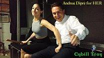 Mistress Cybill Troy squeezes Andrea Diprè's balls thumb