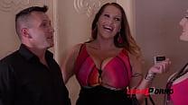 Laura Orsolya & Angel Wicky Sway Their Big Boobs in Titty Fuck Threesome GP097
