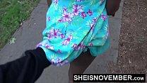 Blonde young ebony in street blowjob sloppy head by msnovember pov risky public