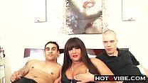 Auntie MILF Threesome with 2 Nephews