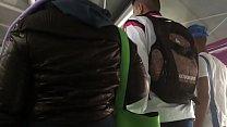 Tocando a jaqueta de nylon marrom da gordinha Pt 1 Thumbnail