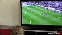 Lucky guy fucks his 3 World Cup cheering teen neighbors! thumbnail