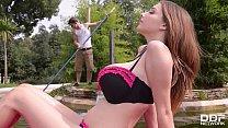 Busty Pool Goddess Lucie Wild Fucks Hard by the... Thumbnail