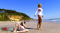 Hot blonde Milf fucked on a public beach thumb