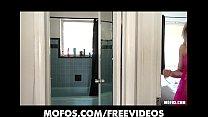 Stunning sexy blonde amateur masturbates in her bathroom