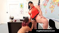 Curvy Cuban Angelina Castro Bangs Gia Love With...